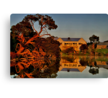 """Morning Reflections at The Minya Winery"" Canvas Print"
