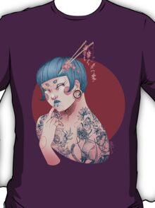 Blue Willow Tattoo Girl T-Shirt