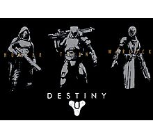 Destiny Hunter Titan Warlock Action Figure Photographic Print