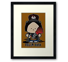 Sup Data Framed Print