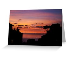Riomaggiore at sunset Greeting Card