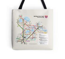 Walt Disney World Transportation as a Subway Map Tote Bag