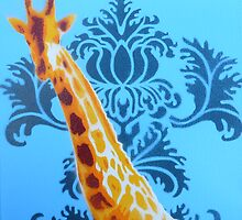 Wallpaper Giraffe by Nicole Tattersall