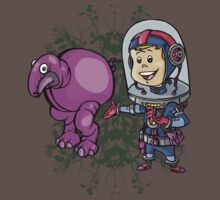 SpaceKid and a Roundbodied Grazealump by Steven Novak