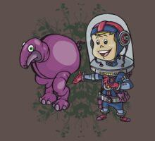 SpaceKid and a Roundbodied Grazealump by Steven Novak