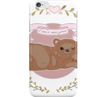 """Baby bear woodland print """"I don't need your validation"""" iPhone Case/Skin"""