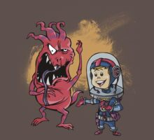 SpaceKid and Captain Sourbreath McCallister of the Ulysses Garbage Transport by Steven Novak