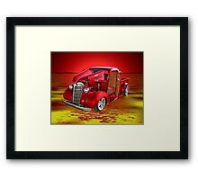 Red Pick Up Reflected Framed Print