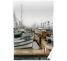 Foggy Harbor Poster