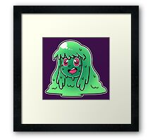 Slime Girl Framed Print