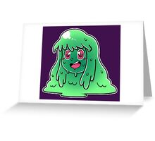 Slime Girl Greeting Card