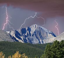 Longs Peak and Lightning Bolts by Bo Insogna