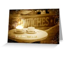 Light Brew Greeting Card