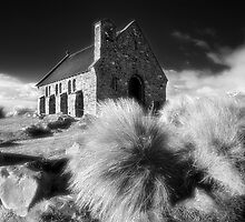 Infrared Church - Church ot the Good Shepherd NZ by Hans Kawitzki
