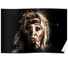 Evil Dead Female Zombie With Monster Headache Poster