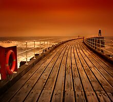 Whitby Pier by Anthony Gregory