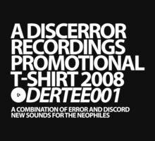 DERTEE001 - A DiscError Recordings Promotional T-Shirt by DiscError