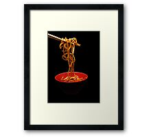 Chinese Noodles  Framed Print
