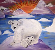 The Polar Bears by sweetiepeachess