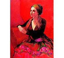 The Gypsy Skirt, oil painting on stretched canvas Photographic Print