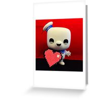 Marshmallow Man Valentines  Greeting Card
