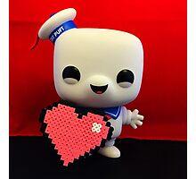 Marshmallow Man Valentines  Photographic Print