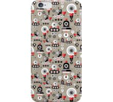 pattern amusing lovers robots iPhone Case/Skin