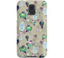 floral pattern with birds Samsung Galaxy Case/Skin