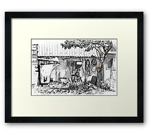 cats in the junk yard Framed Print