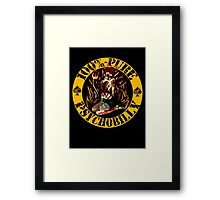 Psychobilly Girl - yellow Framed Print