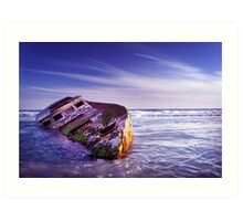 Wrecked. Art Print