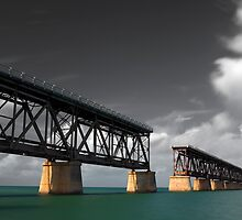 Old Bahia Honda Bridge by Denis Wagovich
