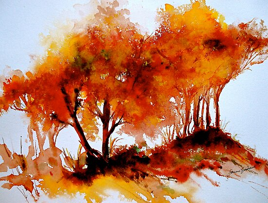 The Trees-Autumn by © Janis Zroback