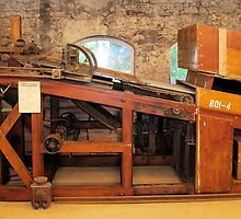 """Kimber"" dynamite packing machine, 1899 by Lenny La Rue, IPA"