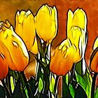 Bunch of Yellow Tulips by Francine Dufour Jones