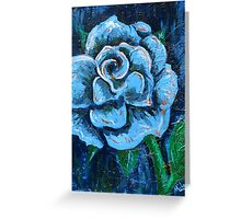 """""""Blue Rose"""" original signed acrylic painting on canvas Greeting Card"""