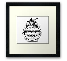 Due 18:14  (What's your sign) Framed Print