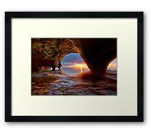 Sea Cave on Lake Superior Framed Print