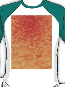 Golden Red Water - Abstract Art and Background Texture T-Shirt