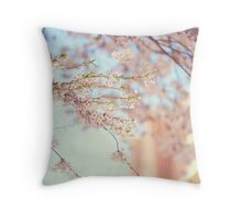 Pink Touch of Softness. Pink Spring in Amsterdam Throw Pillow