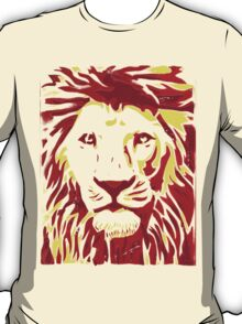 Lovely Lion Stencil (Warm) T-Shirt