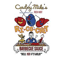 COWBOY MIKE'S BBQ SAUCE Photographic Print