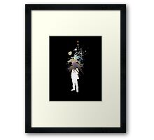 Nebula Head - Abstract Space Grafitti Framed Print