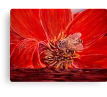 Busy Bee - Gouache Canvas Print