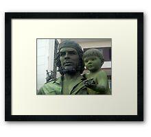 Che Guevara statute Framed Print