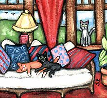 Cat Lover's Art Calendar by Jamie Wogan Edwards