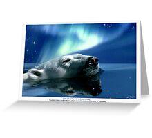 """""""Aurora Dreaming"""" Polar Bear & Aurora Greeting Card"""
