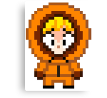 South Park Kenny McCormick Mini Pixel Canvas Print