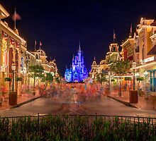 Nighttime On Main Street USA by Kyle Mitchel