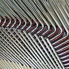 Abstract Lines of Stacked Chairs  by clizzio